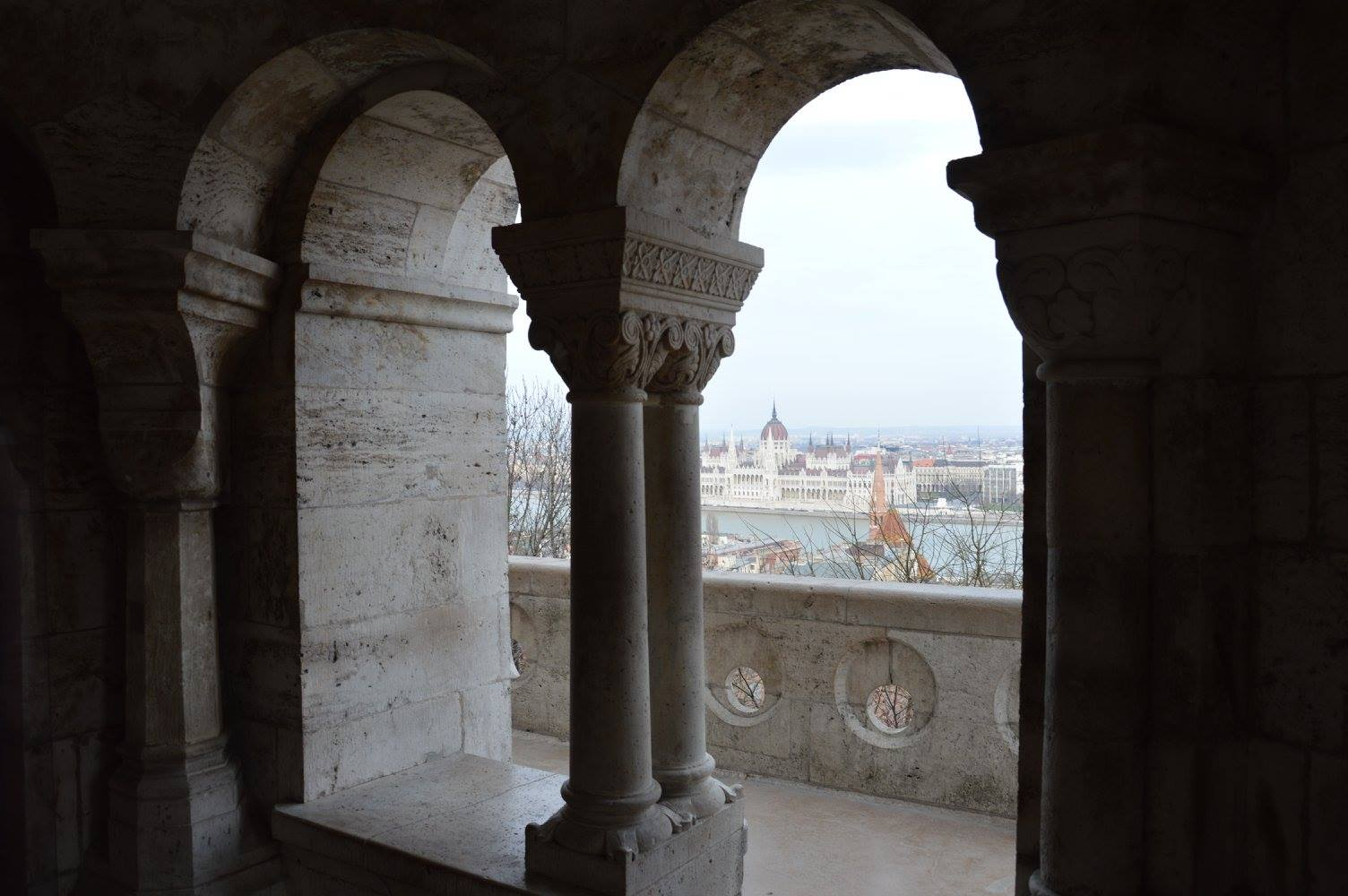 Budapest view from the Fishermans's Bastion