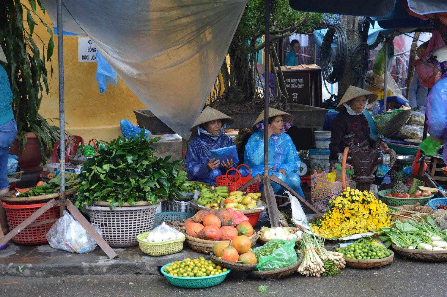 Mercato nelle strade di Hoi An