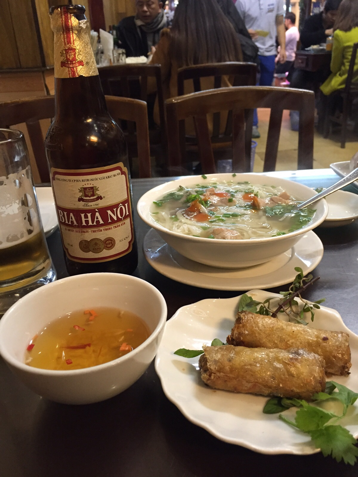 Pho al ristorante New Day a Hanoi